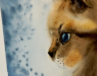 animal with watercolor