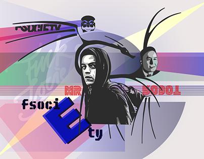 MR. ROBOT - FSOCIETY - Illustration