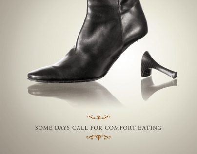 Print Advertisement for Chocolat Restaurant