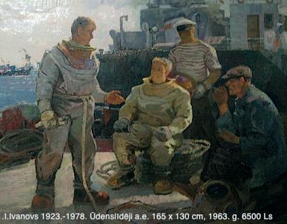 AuctionLATVIAN ART UNDER THE SOVIET FLAG HappyArtMuseum