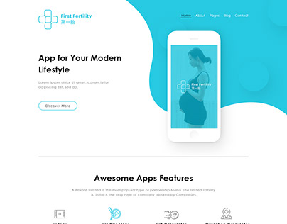 Multi-language custom designed App Landing Page !!
