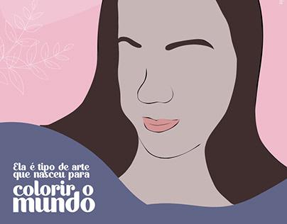 Desenho - homenagem ao dia das mães