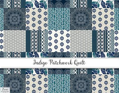 Indigo Patchwork Quilt