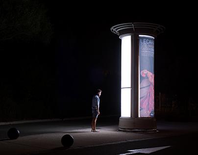 Self-portraits at night.