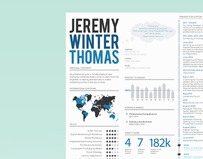 Personal Branding - Infographic Resume + Business Cards