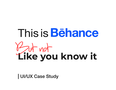 Bēhance Search Redesign