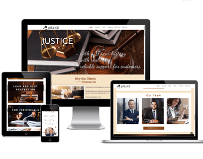 Justice - Law Company Website