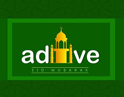 eid typography , aditveads