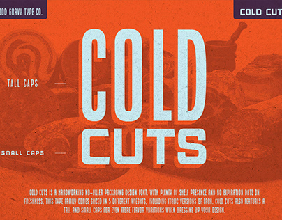 COLD CUTS : Font by Good Gravy Type Co.