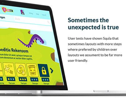 Redesigning Squla's learning platform | 2014