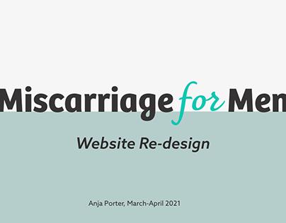 Miscarriage for Men (Web Design)