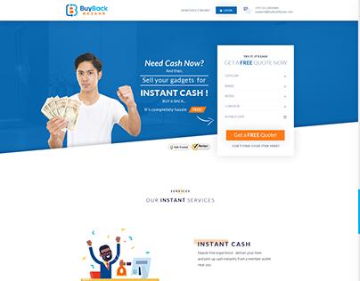 Credit Card Buy Back Website Mockup