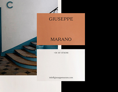 Giuseppe Marano / Visual identity + website