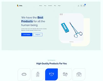 Teta - WooCommerce WordPress theme - Medical shop
