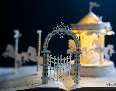 Entrance To A Magic World - Book Sculpture