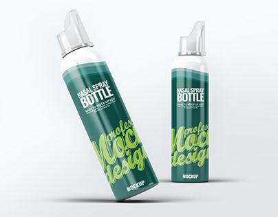 Nasal Spray Bottle Mock-Up