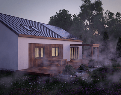 Evening version of the last house project