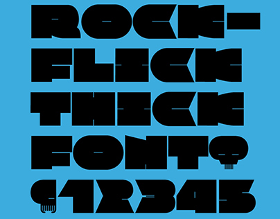 Rockflick Thick Font