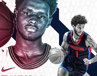 Duquesne Men's Basketball Experimental Graphics