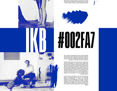 Yves Klein IKB - Website Prototype