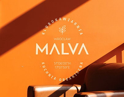 MALVA - club café visual identity