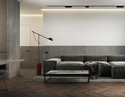 INTERIOR DESIGN Student apartment - Lodz, Poland