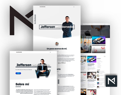 Ux & web design for maldonadoz.com