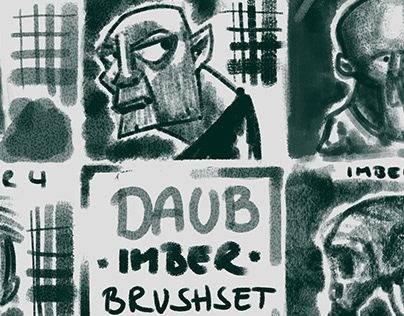 DAUB Imber brushset, reference face sketches