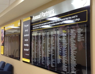 Blackhawk College Donors Display