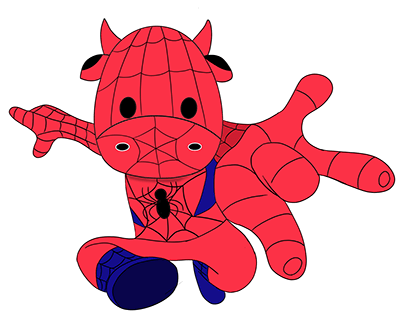 Spider Moo - Procreate practise project