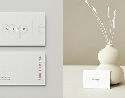 SIMPLE - home decor shop branding