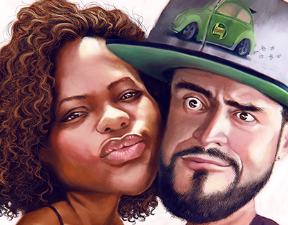 Couple caricature!