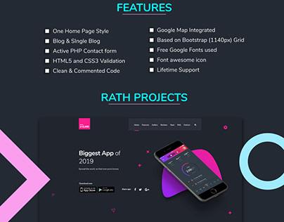 Dark App landing page UI/UX design