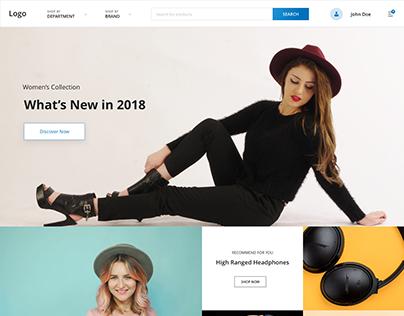 Ecommerce Web App Landing Page Concept