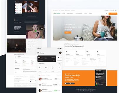 Banca Intesa Web & App Concept- Zivot cini jednostavnim