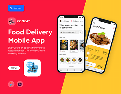 Fooeat - Food Ordering IOS/Android App-UX/UI Case Study