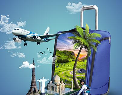 Dream Destination Travel Trip Photoshop manipulation