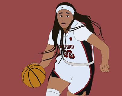 Haley Jones Basketball Vector Illustration