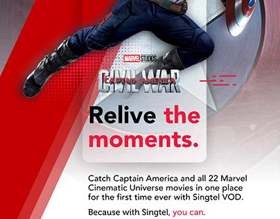Marvel Cinematic Universe Launch on Singtel VOD