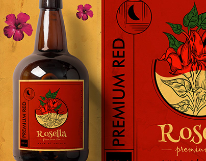 Rosella Premium Tea Label Design