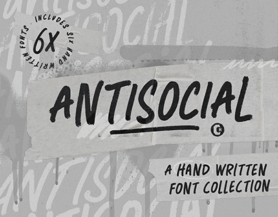 ANTISOCIAL FONT COLLECTION