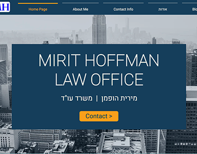 Redesign of the website of Mirit Hoffman - Lawyer