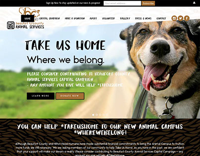 Beaufort County Animal Services website