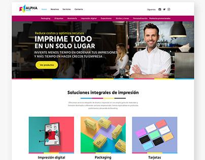 Diseño de sitio web para imprenta digital