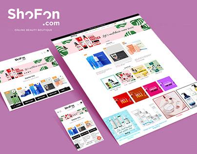Cosmetics ONLINE SHOP, Shopify, website 2019.