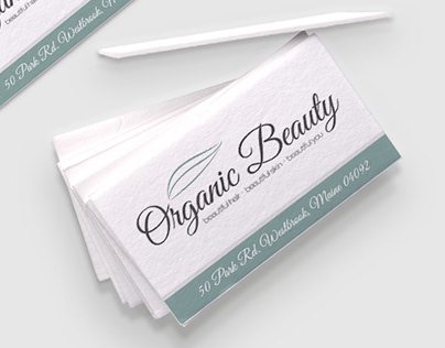 Organic Beauty: Logo, Identity & Print Products