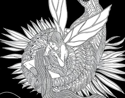 Fairies in Wonderland Final Drawings