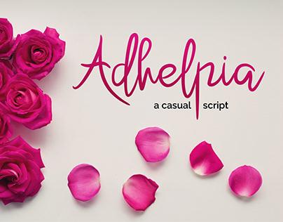 Adhelpia - Free Font