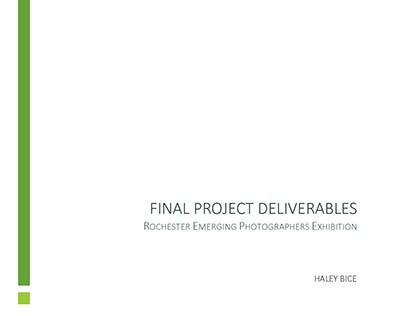 Exhibition: Final Deliverables