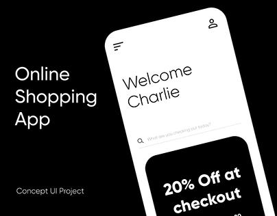 Online Shopping App - UI Design